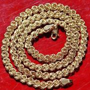 14k Yellow Gold Necklace 18.25 Fancy Link Chain Vintage Handmade 8.2gr N3073c