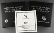 2011 P Olympic America The Beautiful 5 Oz Silver Coin Np8 Collector Version +ogp