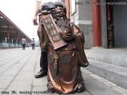 31 Chinese Famous Bronze Copper Lucky Dragon God Of Wealth Mammon Buddha Statue