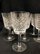 10 Vintage Waterford Alana Large Wine/water Goblets- Hand Cut Irish Crystal 2