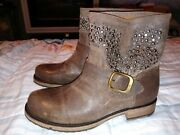 Frye Womens Veronica Chocolate Ankle Boots Size 7 1801233 New Without Box