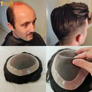 Men Toupee Durable Wig Natural Hair Human Hair Wig Toupee Replacement Systemunit