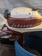 Vintage 1958 Johnson Jw-13 3hp Outboard Motor Running Good Nicest One Around.