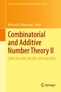 Combinatorial And Additive Number Theory Ii Cant New York Ny Usa 2015 And