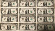 One Dollar Frn 1 2013 Complete 12 District Set A - L Crisp - Uncirculated Notes
