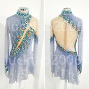 New Style Figure Skating Ice Skating Dress Costume Sparkle Best-selling 86508