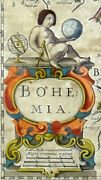 1641 - Bohemia Map Hand Coloured With Passepartout