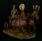 Tin Toy Soldier 90 Mm. Superb Luxury Painting In St. Petersburg.ramses And039 Chariot
