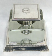 C. 1900 Wm B Kerr And Co Crystal And Sterling Silver Desk Ink Well