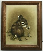 Collectors Corner Inc. Bunny Rabbit With Horsefly Painting Lee