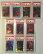 1994 Marvel Masterpieces Complete Silver Holofoil Set All 10 Cards Psa 9