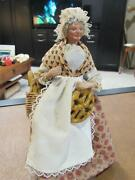 Vintage French Santons De Provence 10 Doll | Old Lady Baker With Bread