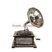Wooden Vintage Look Gramophone 78 Rpm Record Vinyl Player Phonograph Home Decor
