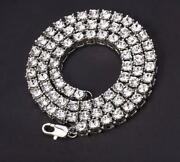 Beautiful 925 Sterling Silver Moissanite Unisex 5mm Tennis Chain And039and03922and039and039 Inch
