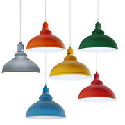 Vintage Industrial Loft Style Metal Ceiling Pendant Light Shades Lampshade Lamps