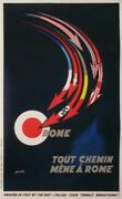 Sepo Out Chemin Mene A Rome 1930 Vintage Poster
