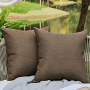 2pack Outdoor Pillows Patio Furniture Waterproof Pillow Covers Square 18 X 18