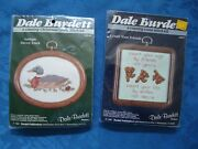 Dale Burdett 2 Counted Cross Stitch Antique Decoy Duck And Count Your Friends Nip