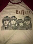 Vintage Distressed The Beatles For Sale Baseball T-shirt Size L Runs Small