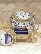 Faberge Egg Musical Trinket Necklace And Bracelet Wife Faberge Jewelry Set For Her