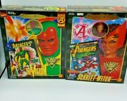 Marvel Famous Covers Series Vision + Scarlet Witch Lot 8 Vintage Figures