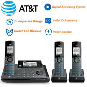 Atandt 3 Handset Cordless Connect To Cell Phone System Smart Call Blocker Clp99387