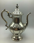 Antique Chantilly Coffeepot Hand Chased 1001-2 Gorham Sterling - 3 Pints 11andrdquo