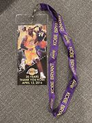 Kobe Bryant Finale Game Lanyard 2016 Limited And Rare