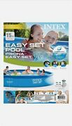 Intex 15ft X 33in 15' X 33 Easy Set Inflatable Swimming Pool With Filter Pump