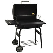 30 Outdoor Charcoal Pit Patio Backyard Meat Cooker Smoker Bbq Grill Garden Camp
