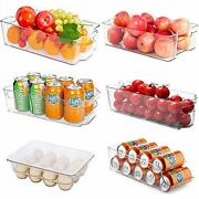 Refrigerator Pantry Organizers Oflywe 6 Pack Large Clear Plastic Style-b