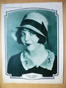 Picture Show Art Supplement, May 1929 Nancy Carroll In The Water Hold,jack Holt