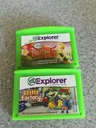 2 Leap Pad Explorer Game Cartridges Disney Tinker Bell And Letter Factory