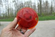 Vintage Guidex Guide R-13 Red Glass Tail Light Lamp Lens Old Car Part