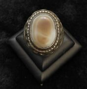 Ancient Agate Stone Evil Eyes Powerful Protection Antique Silver Unique Ring
