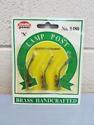 N Scale Model Power Brass Lighted Lamp Posts 8480 New Industrial Light