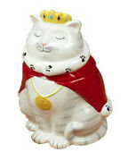 Queen Cat 37367 White Kitty 3d Ceramic Cookie Treat Jar 9.25 H Tracy Flickinger