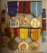 /medal Group And Medal Bars For Some Usmc