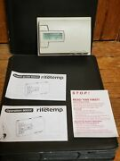 Ritetemp 8022c Programable Thermostat Pre Owned Beige Home Air Conditioning Heat
