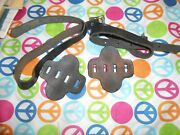 Model A Or T Ford Top Saddle Straps And Pads - Nickel Buckle - Original Vintage
