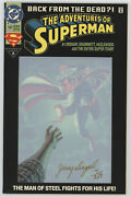 Adventures Of Superman 500 Dc 1993 Signed Jerry Siegel Df Dynamic Forces Variant
