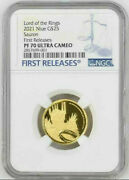 2021 Niue The Lord Of The Rings - Sauron 25 1/4oz Gold Proof Coin Ngc Pf70uc Fr