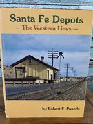 Santa Fe Depots The Western Lines By Robert Pounds Hc Dj Trains Railroad Book