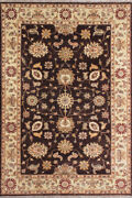 Handmade Rugs 5x8 Traditional Antique Area Rug Black Beige Hand Knotted Carpet