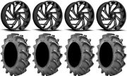 Fuel Reaction 18 Wheels Black 33x8 6ply Bkt 171 Tires Can-am Defender