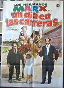 A Day At The Races Marx Brothers Movie Poster Spanish 1982rr Horse Racing Art