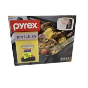 Pyrex Portables 4 Piece Insulated Food Carrier Hot Cold Dishes Sealed Box New