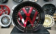 New 17 Inch 4x100 Deep Dish Rr Wheels For Vw Golf Caddy Jetta Lupo Jdm Style Old