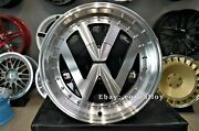 New 17 Inch 4x100 Deep Dish Jdm Rr Style Wheels For Vw Golf Caddy Jetta Lupo Old
