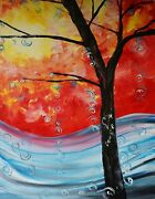 Party Kit - Fire And Ice - Acrylic Painting Kit And Video Lesson